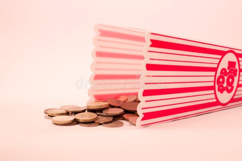 Het Concept van bioskoopkosten royalty-vrije stock fotografie