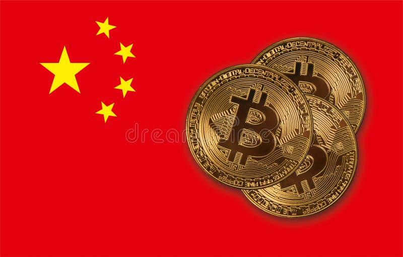 Het concept van Bitcoinmuntstukken stock illustratie