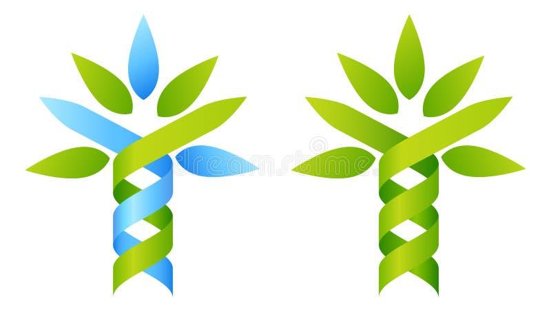 Het concept van boomdna stock illustratie