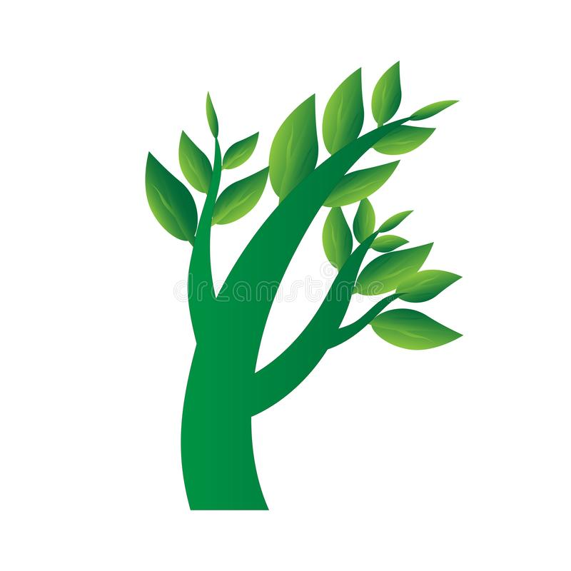 Het concept van het boompictogram vector illustratie