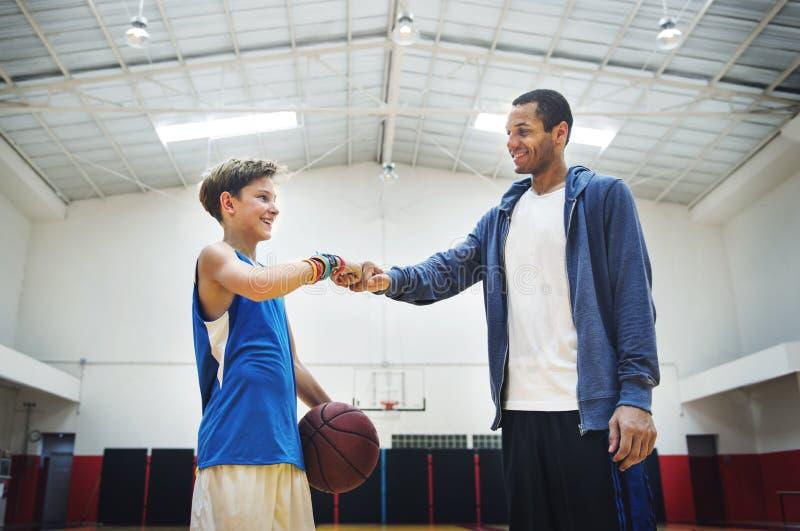Het Concept van busteam athlete basketball bounce sport royalty-vrije stock fotografie