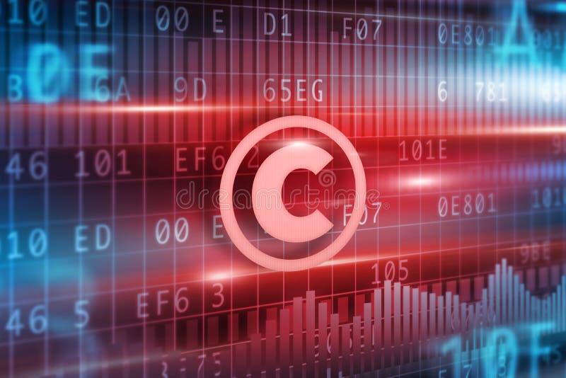 Het concept van Copyright stock illustratie