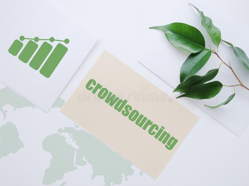 Het concept van Crowdsourcing stock afbeeldingen