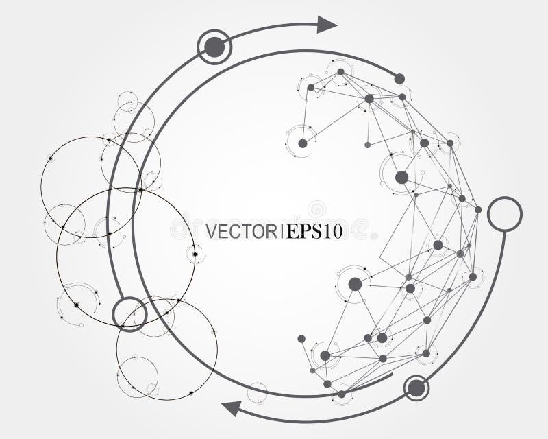Het concept van de aansluting Geometrische achtergrond voor zaken of wetenschap vector illustratie