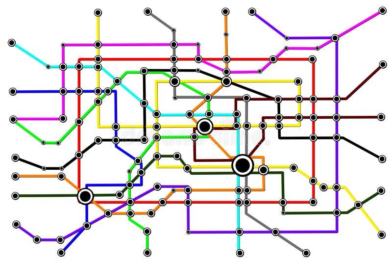 Het Concept van de Aanslutingen van de Mensen van het Netwerk van de metro stock illustratie