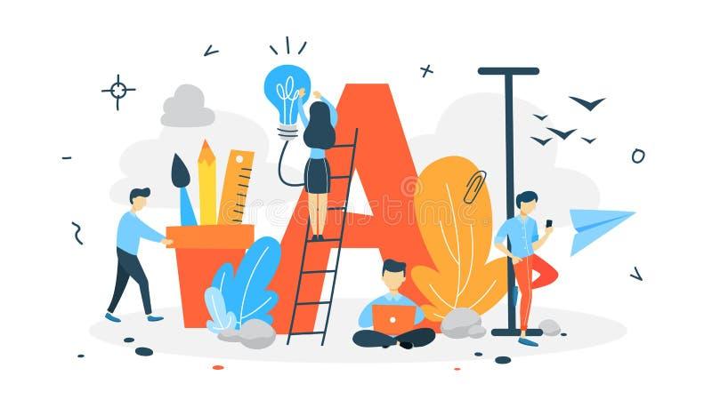 Het concept van de aanvankelijke of dalingsglb brief vector illustratie