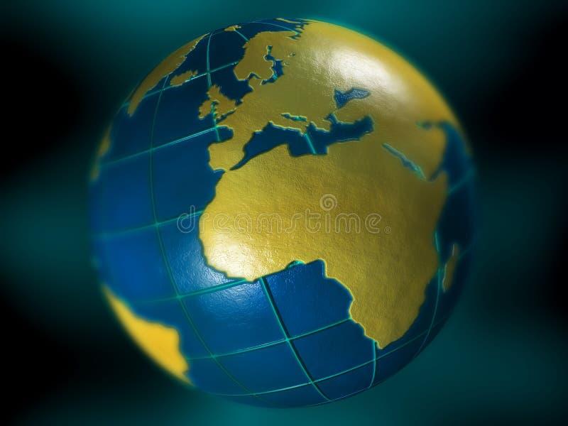 Het concept van de aarde royalty-vrije illustratie