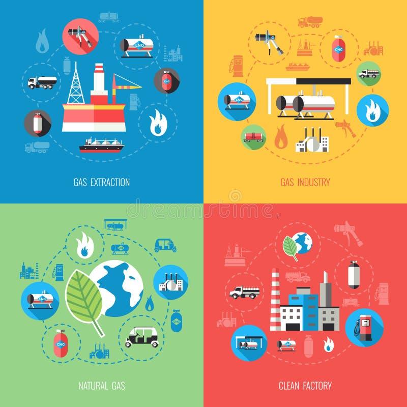 Het Concept van de Aardgasindustrie royalty-vrije illustratie