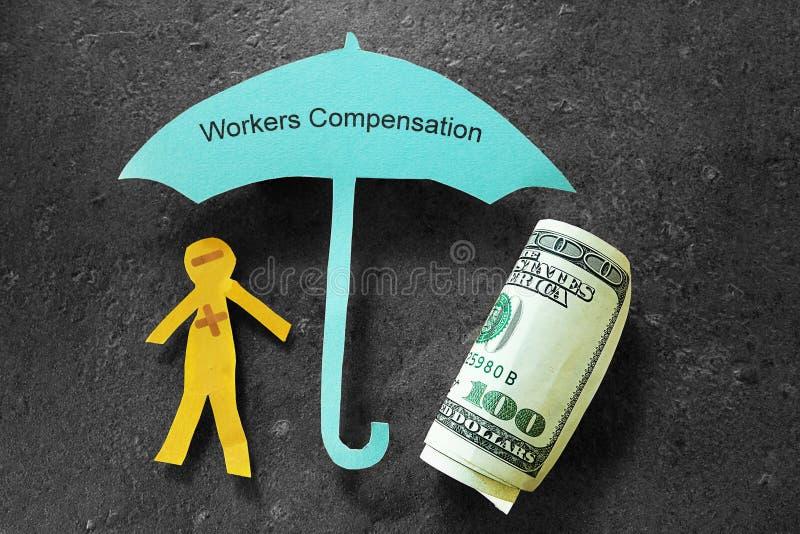 Het concept van de arbeiderscompensatie royalty-vrije stock afbeeldingen