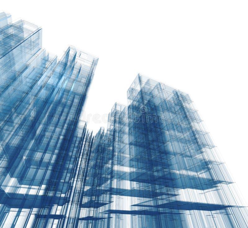 Het concept van de architectuur stock illustratie