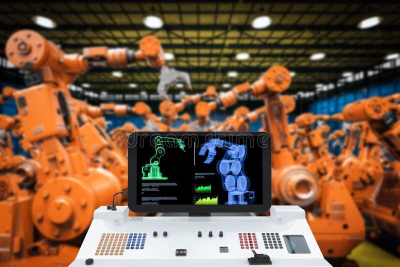 Het concept van de automatiseringsindustrie vector illustratie