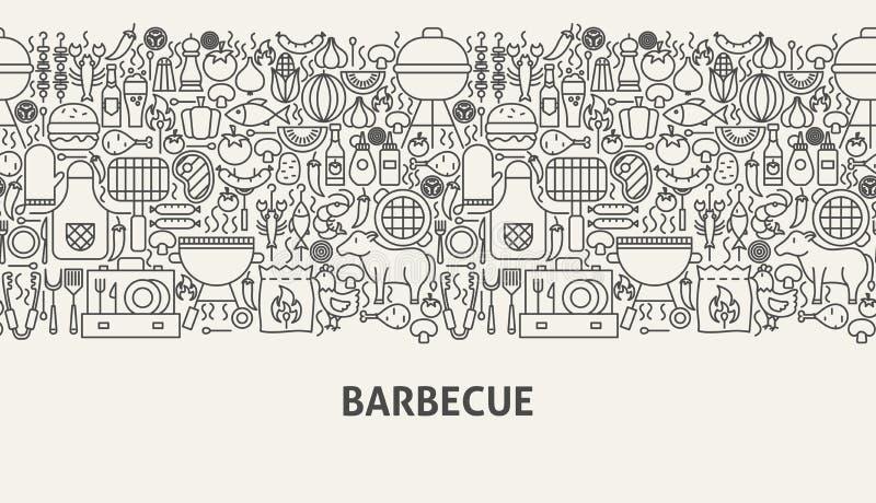 Het Concept van de barbecuebanner royalty-vrije illustratie