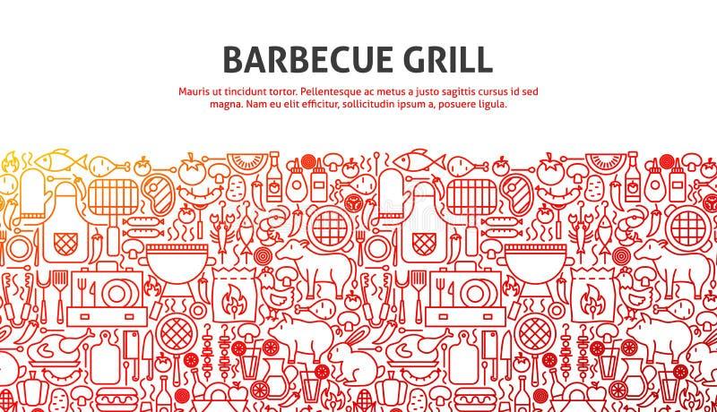 Het concept van de barbecuegrill vector illustratie