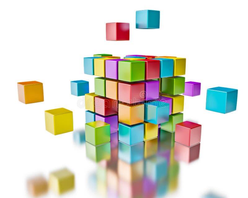 Het concept van de bedrijfsgroepswerksamenwerking vector illustratie