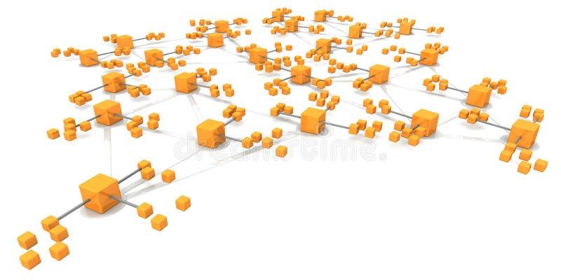 Het concept van de bedrijfsnetwerkstructuur royalty-vrije illustratie