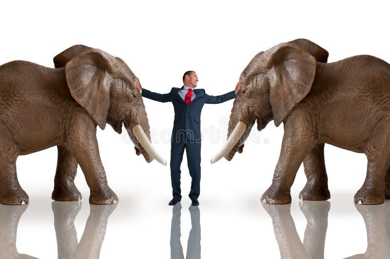Het concept van de bedrijfsuitdagingsbemiddeling stock afbeeldingen