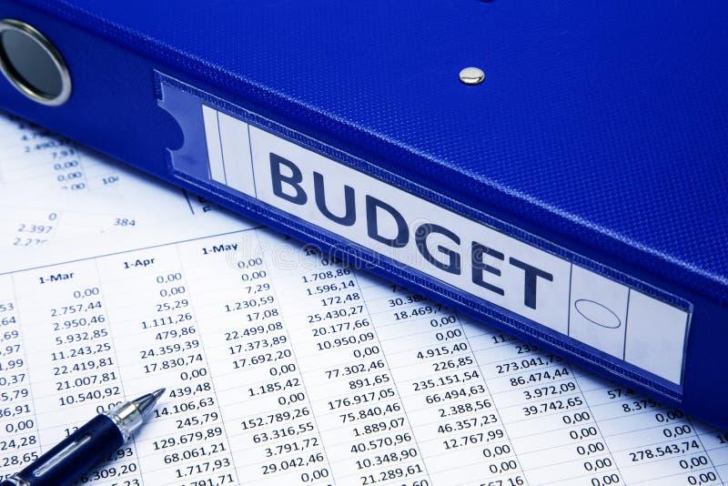 Het concept van de begroting stock afbeeldingen