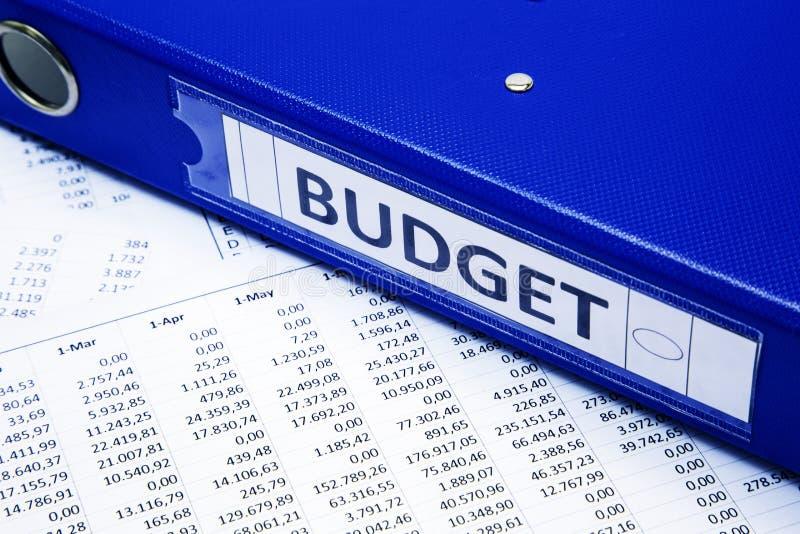 Het concept van de begroting royalty-vrije stock fotografie