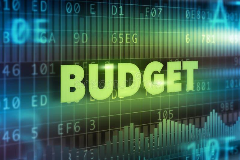 Het concept van de begroting royalty-vrije illustratie