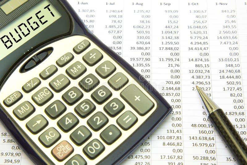Het concept van de begroting royalty-vrije stock foto