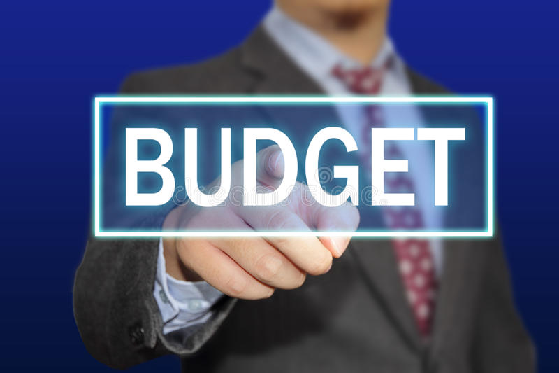 Het concept van de begroting stock fotografie