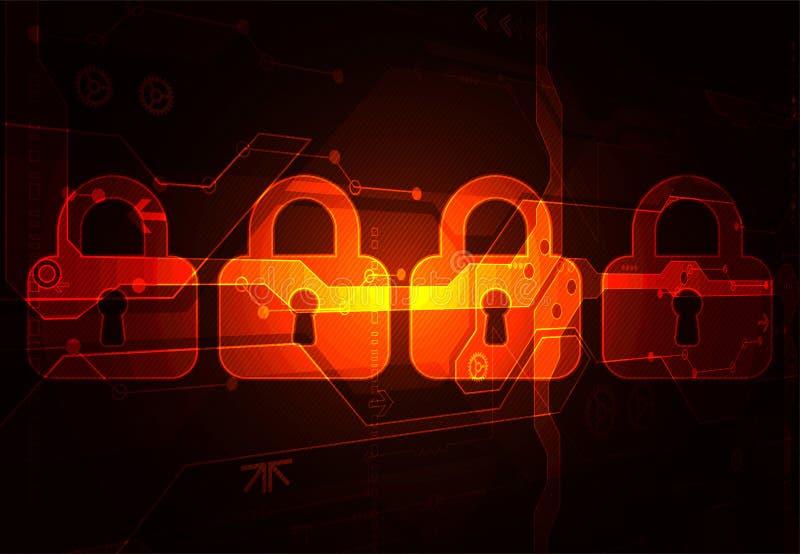 Het concept van de bescherming Bescherm mechanisme, systeemprivacy vector illustratie