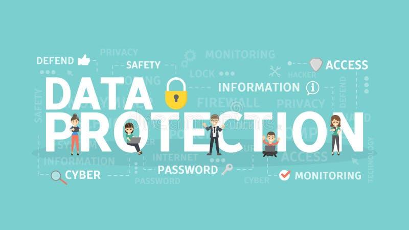 Het Concept van de Bescherming van gegevens stock illustratie