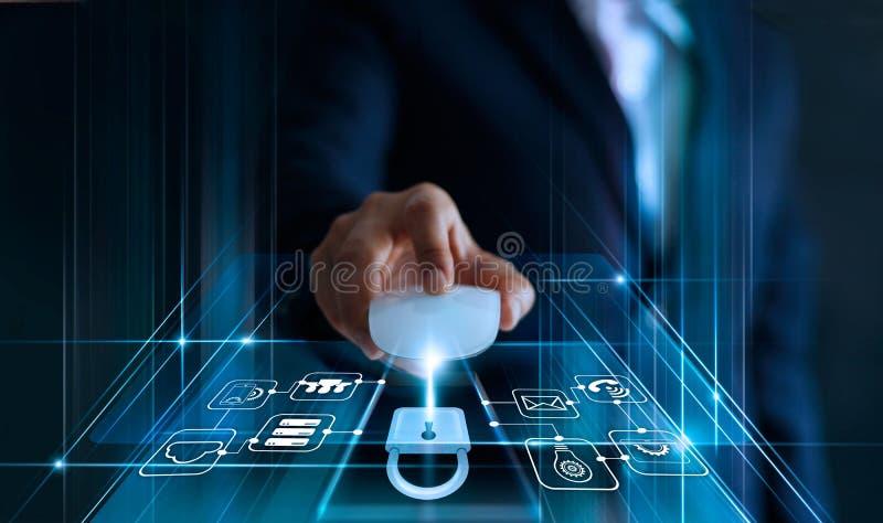 Het Concept van de Bescherming van gegevens GDPR De EU Abstracte achtergrond met slot en regeling royalty-vrije stock afbeeldingen