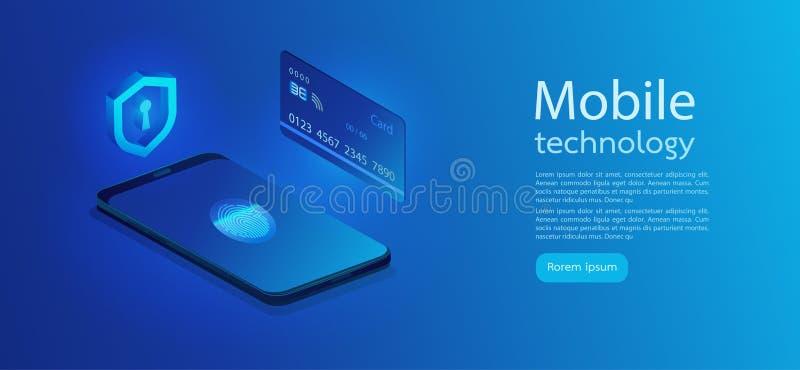 Het Concept van de Bescherming van gegevens Persoonlijke gegevensbescherming Creditcardcontrole en de gegevens van de softwaretoe vector illustratie