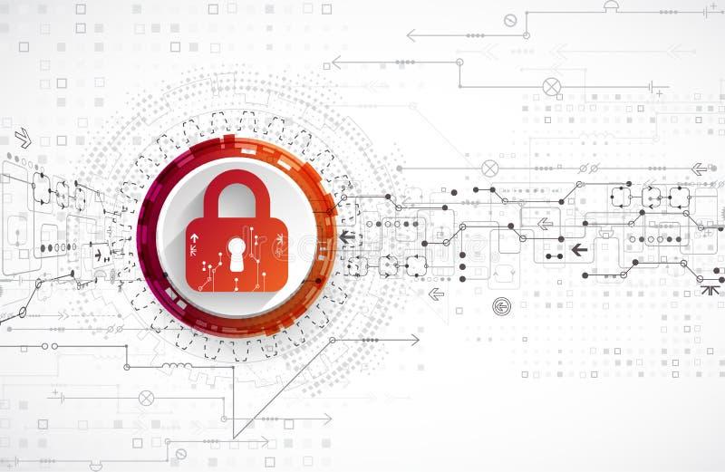 Het concept van de bescherming Veiligheidsmechanisme, systeemprivacy royalty-vrije illustratie