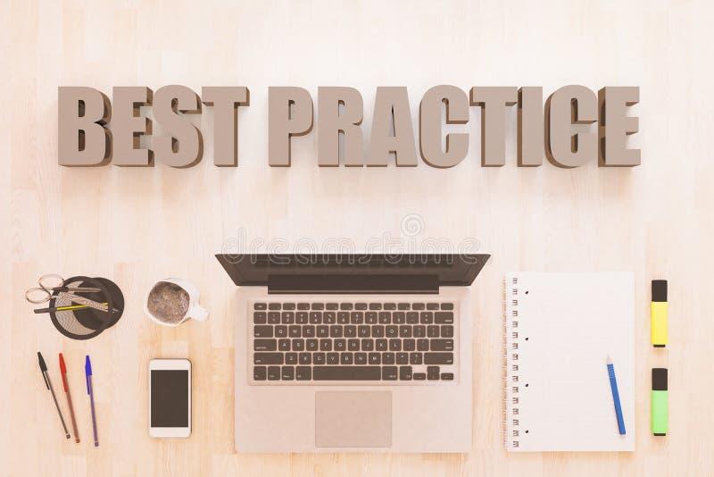 Het concept van de beste praktijkentekst royalty-vrije illustratie
