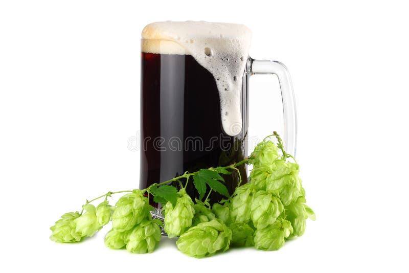 Het concept van de bierbrouwerij De achtergrond van het bier royalty-vrije stock foto's