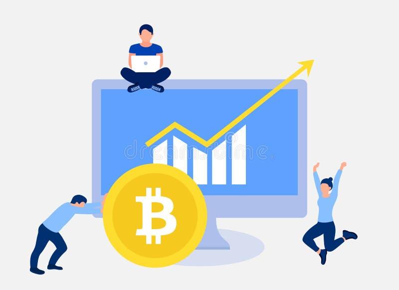 Het concept van de Bitcoingroei vector illustratie