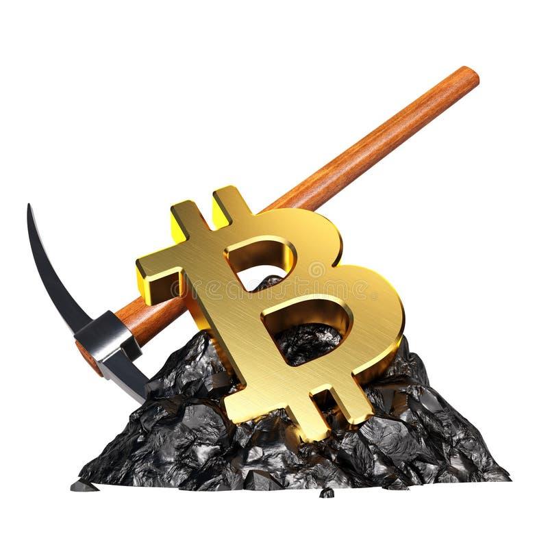 Het concept van de Bitcoinmijnbouw royalty-vrije illustratie