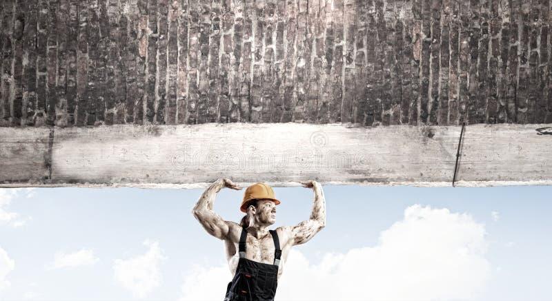 Het concept van de bouw stock afbeeldingen