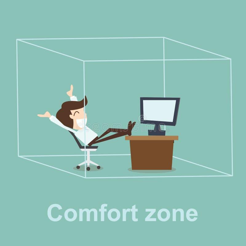 Het concept van de comfortstreek royalty-vrije illustratie