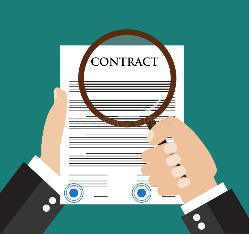 Het concept van de contractinspectie stock illustratie