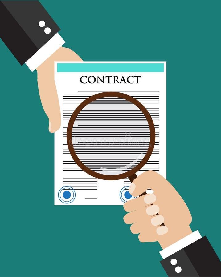 Het concept van de contractinspectie vector illustratie