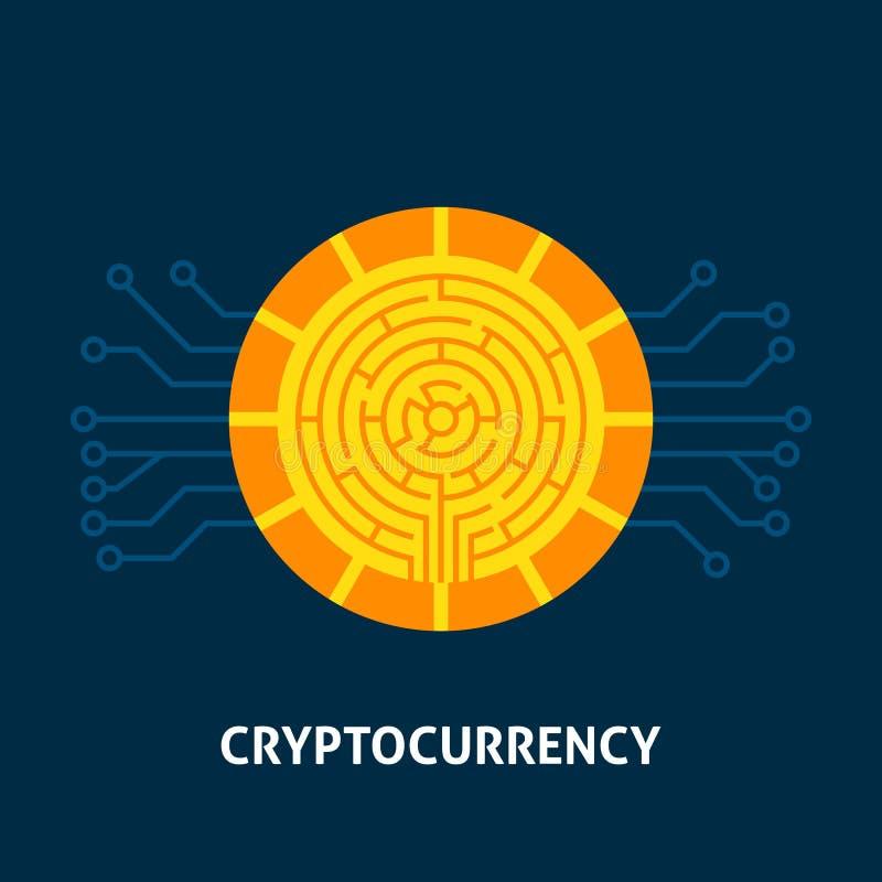 Het Concept van de Cryptocurrencytechnologie royalty-vrije illustratie