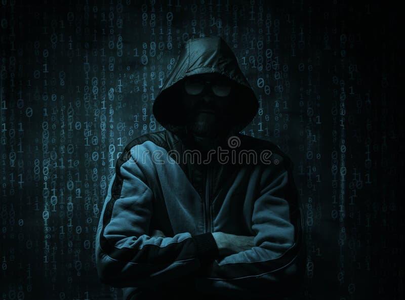 Het concept van de Cyberhakker royalty-vrije stock afbeeldingen