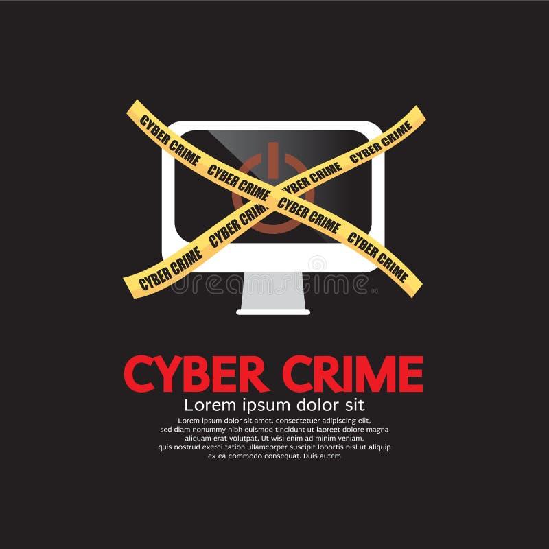 Het Concept van de Cybermisdaad. vector illustratie