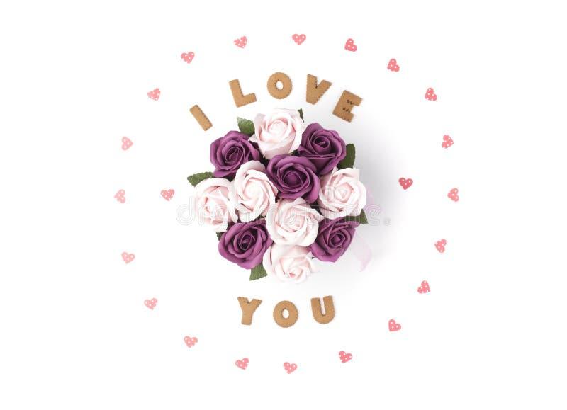 Het concept van de Dag van valentijnskaarten Verklaring van liefde, kader van document harten wordt gemaakt dat In de centrumbloe vector illustratie