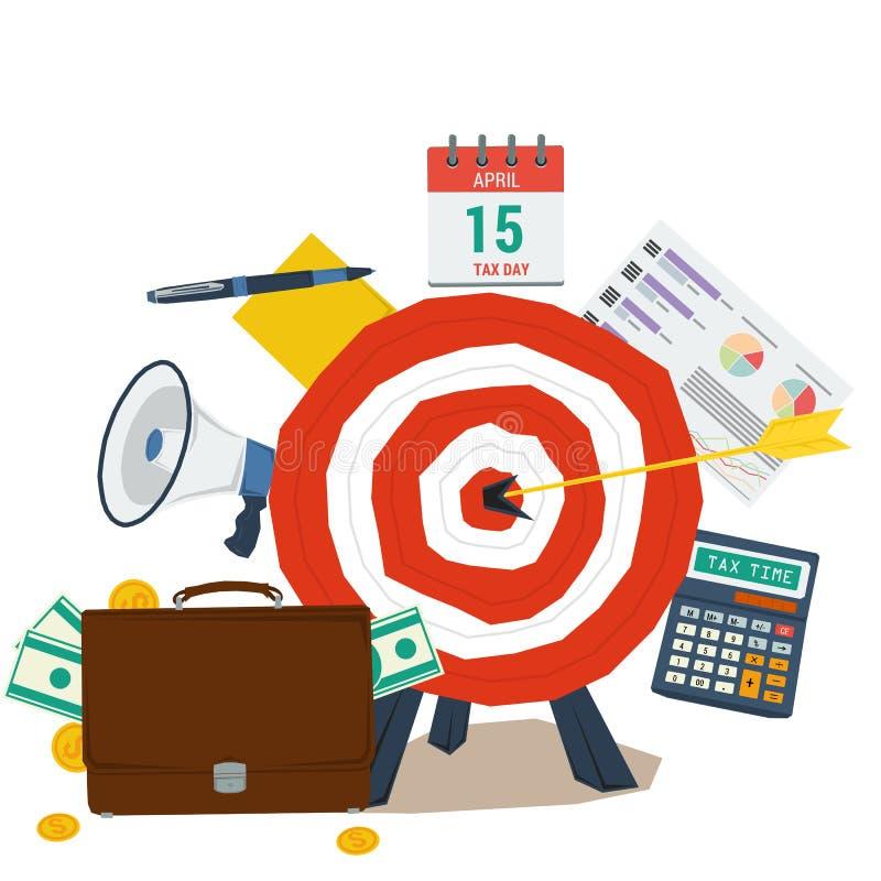 Het Concept van de Dag van de belasting stock illustratie