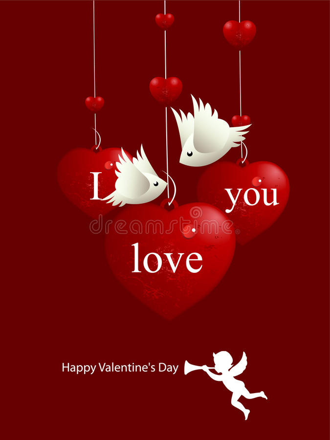Het Concept van de Dag van de valentijnskaart stock illustratie