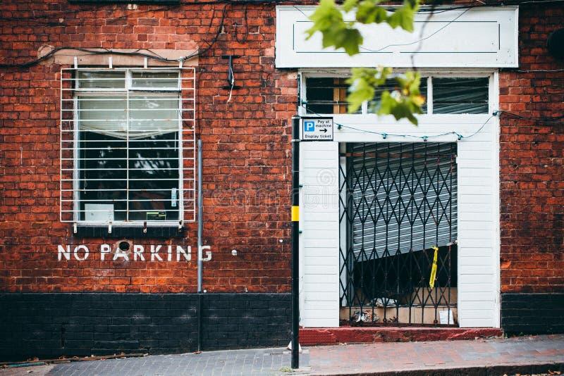 Het Concept van de de BaksteenWoningbouw van de straatmening stock foto