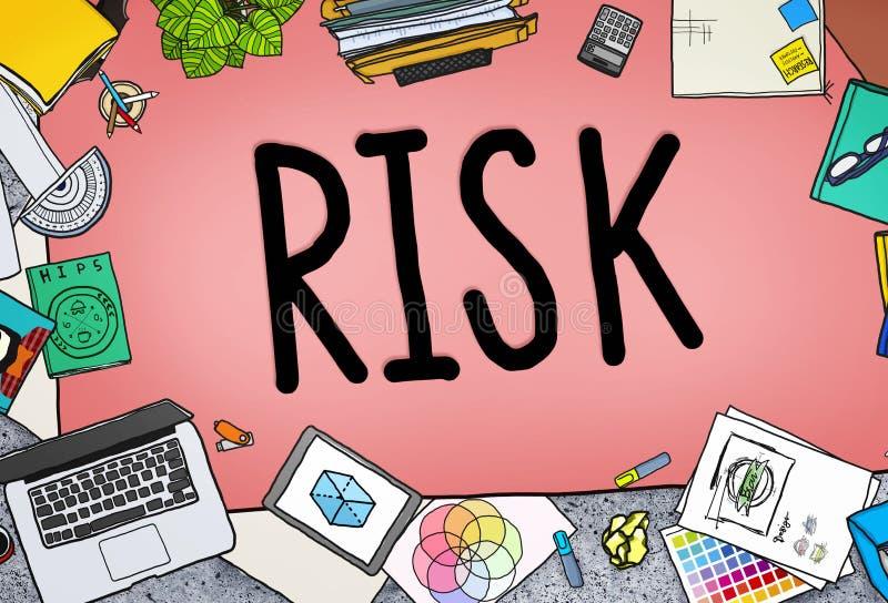 Het Concept van de de Financiënveiligheid van de risicobeheerinvestering royalty-vrije illustratie