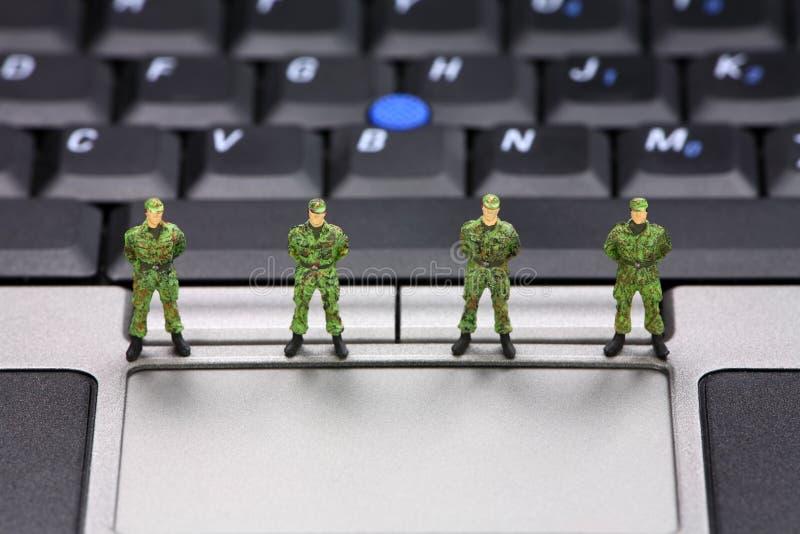 Het concept van de de gegevensveiligheid van de computer stock afbeelding