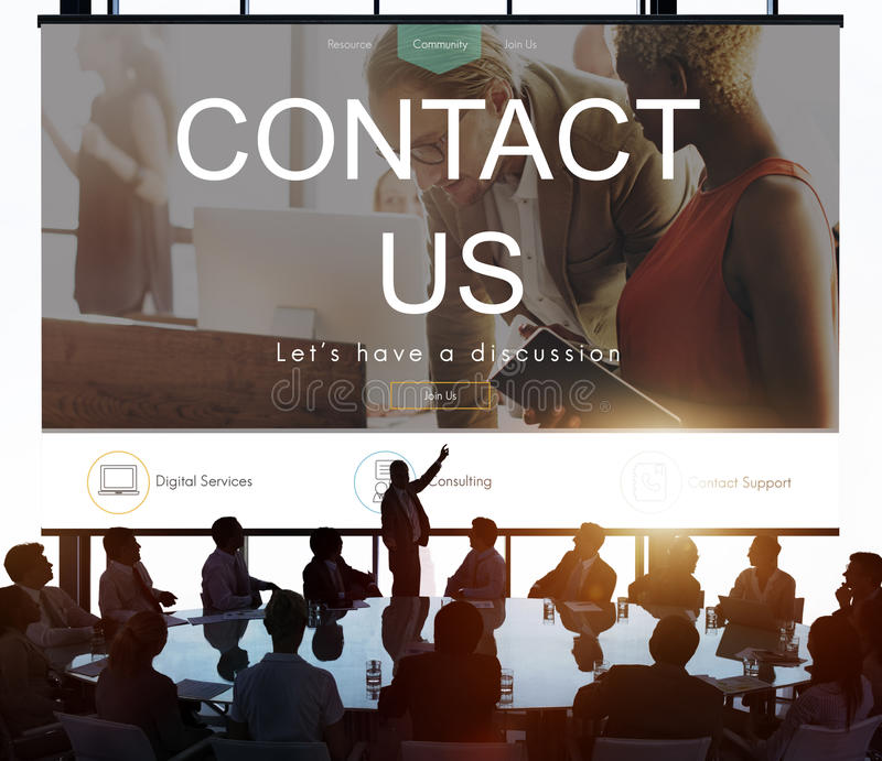 Het Concept van de de Informatiesteun van de helpdesksteun stock afbeeldingen