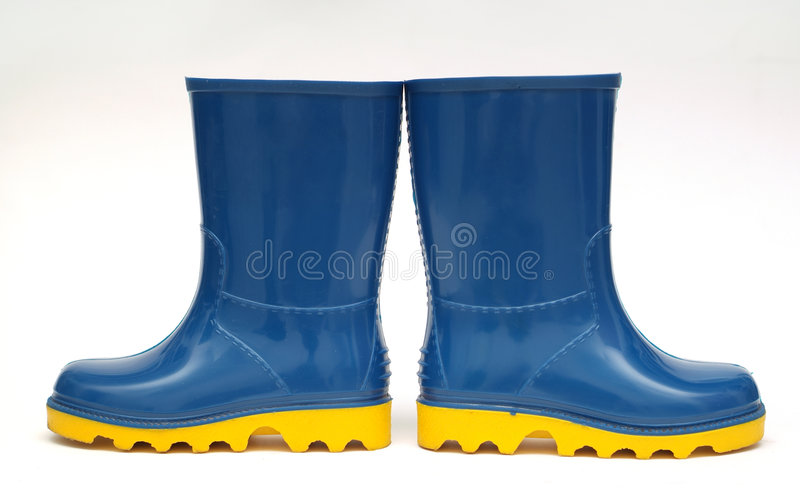 Het concept van de de laarzenrichting van de regen royalty-vrije stock foto