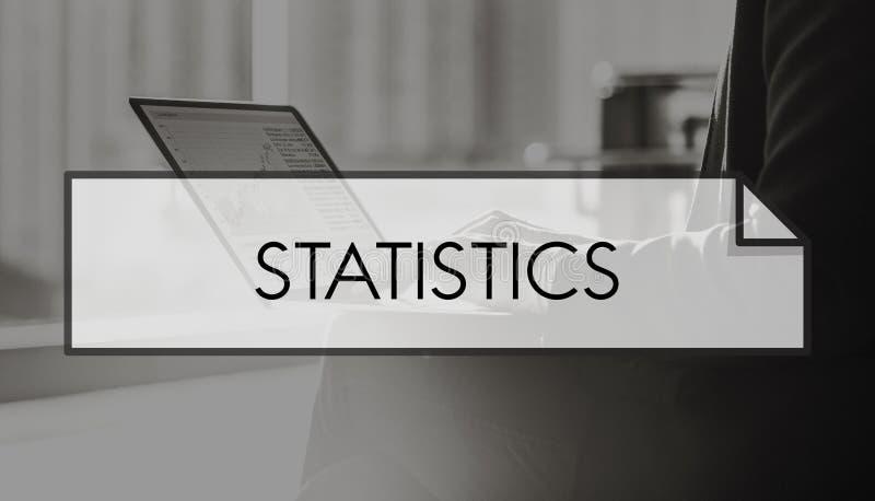 Het Concept van de de Marktgrafiek van de statistiekgegevensverzameling royalty-vrije stock foto's